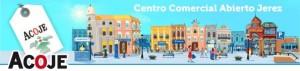 Logotipo de la Asociación de Comerciantes Acoje, colaboradora de la Campaña de Recogida de Juguetes Nuevos para los Reyes Magos de Jerez, organizada por Sinlímites Comunicación y Carcajadas Animación.
