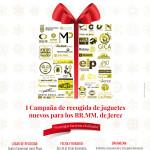 Cartel de la Campaña Juguetes Sin Límites, a beneficio de los Reyes Magos de Jerez 2014, organizada por Sinlímites Comunicación.