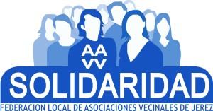 Logotipo de las Asociaciones de Vecinos Solidaridad, colaboradores de la Campaña de Recogida de Juguetes Nuevos para los Reyes Magos de Jerez, organizada por Sinlímites Comunicación y Carcajadas Animación.